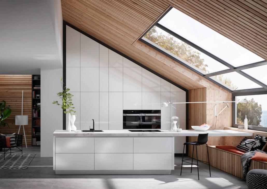 Küche Grifflos Weiß