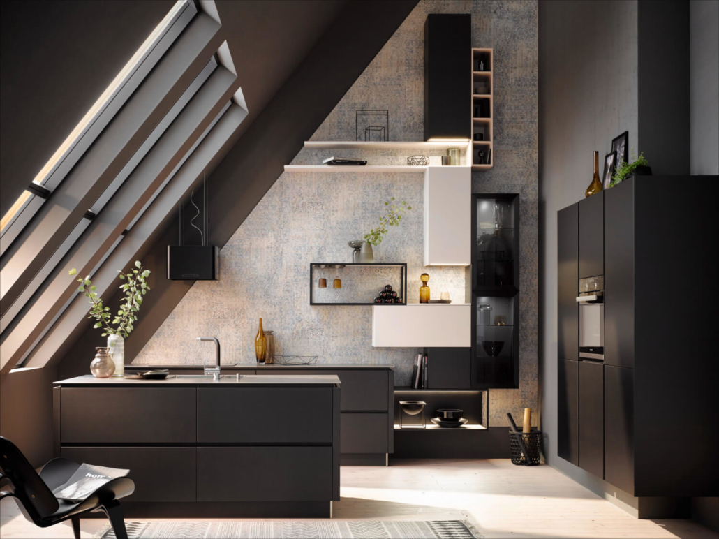 Küche AV2035 Schwarz