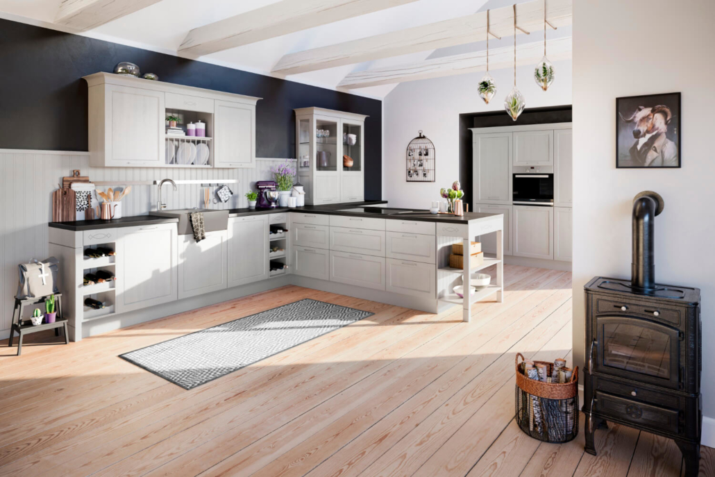 Küche Esche Satin
