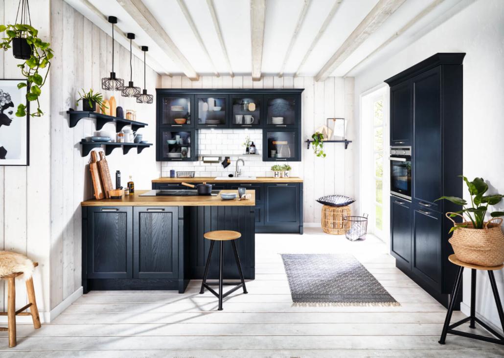Küche Bristol Samtblau