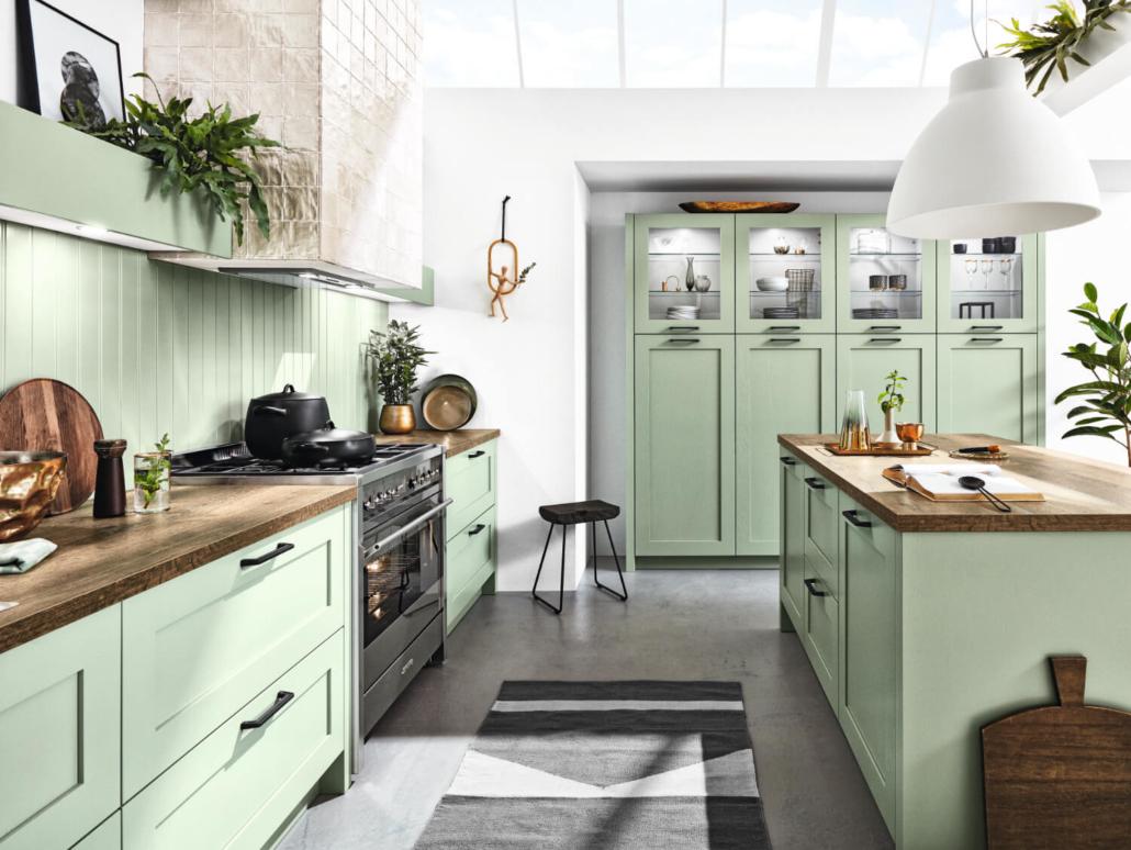 Küche Hampton Pastellgrün